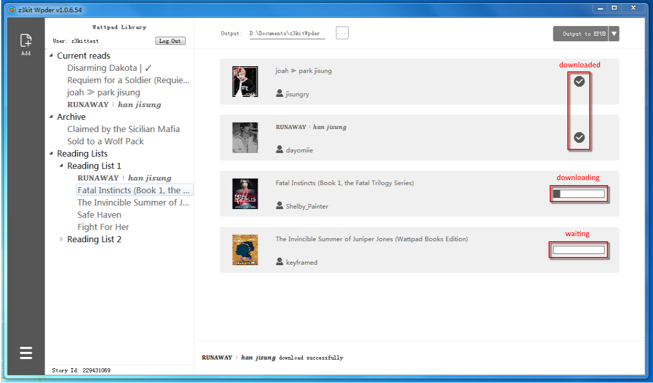 download Wattpad Story